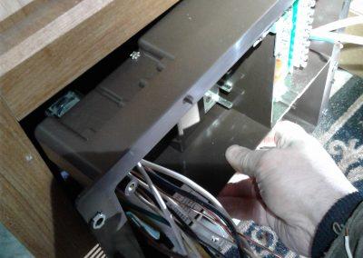 Power center being installed RV converter 12 volts